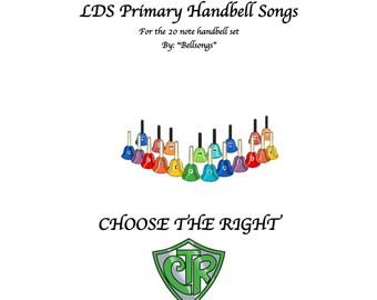 2017 LDS Handbell songbook for the 20 piece handbell set