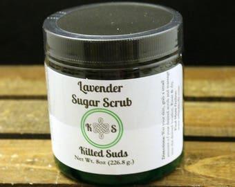 Sugar Scrub - Lavender, Sugar Scrub, Natural Scrub, Exfoliating, Floral Scrub, Handmade Scrub, Relaxing Scrub, Bed Time Scrub