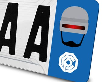 Sticker Robocop for license plates