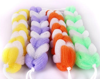Long Bath & Shower Body Mesh Scrubber Wash Exfoliate Scrubber