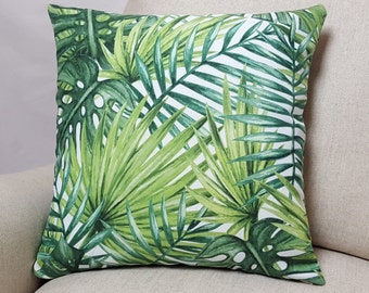 Palm Leaf Pillow Etsy