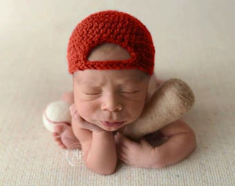 Newborn baseball set, baseball hat, Newborn baseball, felted baseball, felted baseball bat, Newborn photography prop