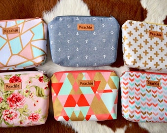 Ready to ship makeup pouches, travel pouch, travel bag, makeup bag, women bag, cosmetics bag, cosmetic pouch