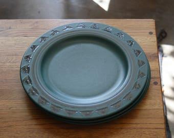 Green Pfaltzgraff Dinner Plate