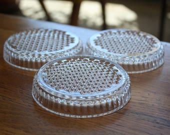 Set of 3 Bubble Glass Coasters