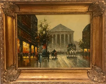 Beautiful Opera House Paris Oil On Canvas Painting by Van Wyek