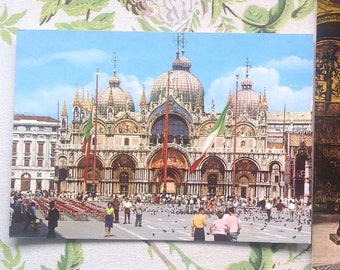 Pair of Postcards from Venice, Italy/ Venezia - Basilica Di S Marco/ Vintage Postcards/ Travel Mementos - 1992