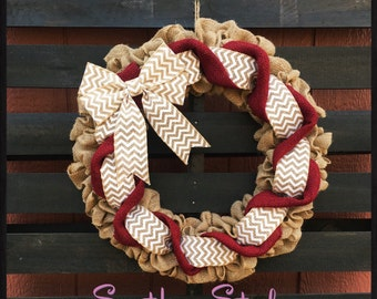Every day wreath, modern door wreaths, year around wreath, all season wreath, burlap every day wreath, personalized wreath, every Occasion