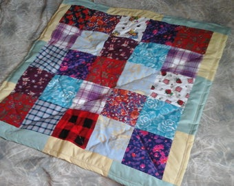 Baby blanket in patchwork style