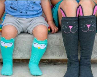 Cozy Critter Socks PDF Sewing Pattern: Kids socks sewing pattern, knee high socks sewing pattern
