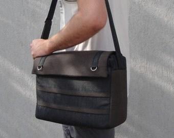 Sac d'ordinateur portable personnalisable pour le tissu de couleur et compartiment de taille-ordinateur portable-7 poches intérieures-Messenger portable sac doublure matelassée parfaitement étanche