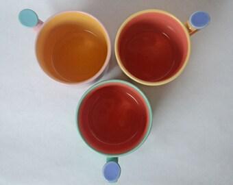 3 Lindt Stymeist Colorways Dot Mugs