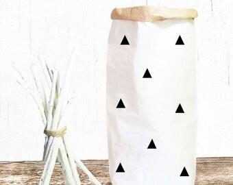 Triangle Dreiecke Papiersack Paperbag Spielzeug Aufbewahrung