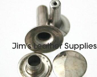 Single Cap Rivets 1000 Large Nickel Plated Steel (#1495)