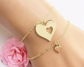 Items similar to mother daughter charm bracelets mother for New mom jewelry tiffany