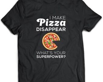 Pizza  Gift, Pizza Shirt, Pizza Art, Black Tshirt, Casual Black Tee, Mens Black Tee, Black Top, Women Black Tshirt, Plus Size Clothing