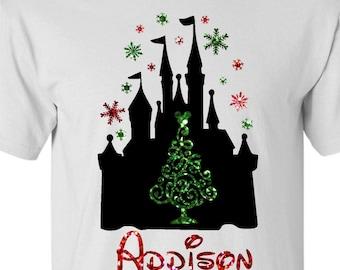 Disney Christmas Shirt Personalized