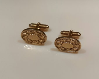 Vintage oval cufflinks by Anson