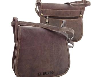 EL BURRO marron leather leather bag rustic bag shoulder bag shoulder bag Saddle bag country house Brown Western country saddelbag 23 x 19