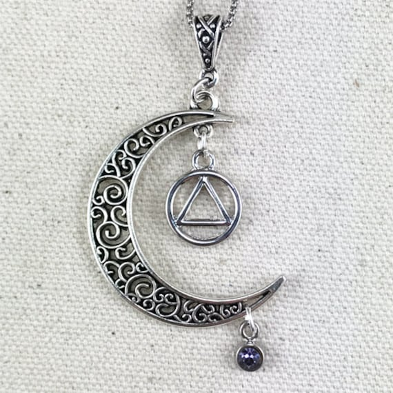 aa jewelry 12 step necklace alcoholics anonymous necklace