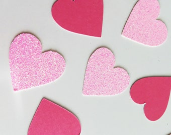 Pink Heart Confetti, Pink Glitter Mix, Valentine, First Birthday, Birthday Girl, Princess Party, Party Decor, Wedding, Engagement