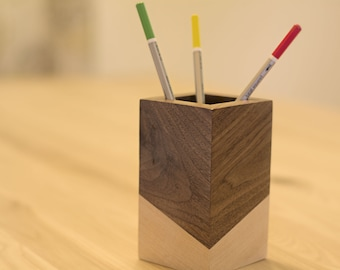 Pencil Holder Wood – Desk Accessories