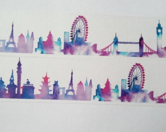 Design Washi tape sights watercolor