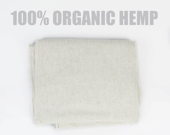 100% Organic Hemp - Natural Soft Hemp Fabric Woven in Northern Thailand - Organic Fabric, Natural Fabric, Cream Fabric, Pure Hemp / Cannabis