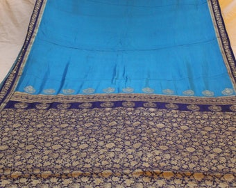 saree,bollywood fabric,dupatta, used stole fabric, indian silk blend saree,vintage shawl,used vintage maxi wrap, antique cloth,sheer