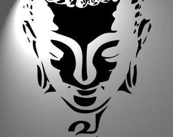 stencil buddha , airbrush mylar125microns,aerograph ,tattoo,french ,furniture, vintage,Shabby chic,Nepal,Namaste