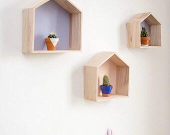 KIT DIY - Shelves wooden houses