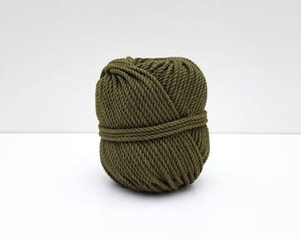 Ball of rope in cotton for macramé - KHAKI