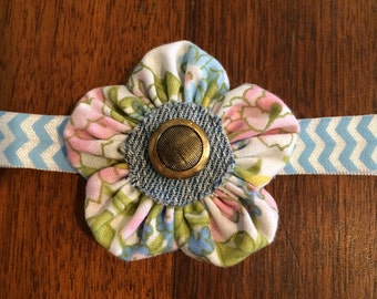 Multi flower with jean center