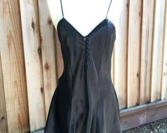 Vintage Black Satin Jumper
