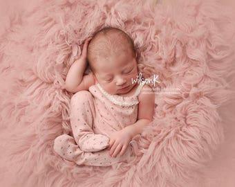 Rosy romper Newborn photo prop