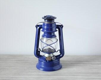 Cobalt blue oil lamp | Etsy