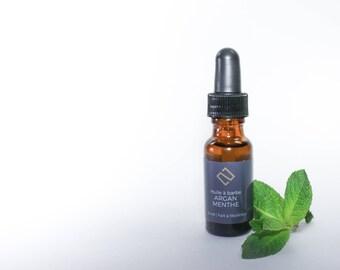 Argan & Mint Beard Oil (15 ml) | Argan oil, moisturizer, beard care, luxury gift, christmas gift man, gift of hote, spa