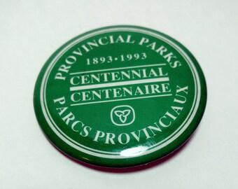 Vintage Ontario Provincial Park Celebration - Canadian Centennial Celebration - Trillium Badge Souvenir