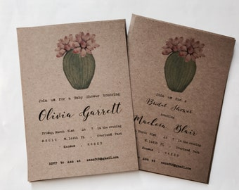 Set 25 - Budget saving - Succulent bridal baby shower - Cactus baby bridal shower - desert baby bridal shower - rustic baby bridal shower