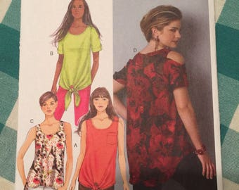 B6057 Butterick Misses' Top and Tunic Sewing Pattern  P289