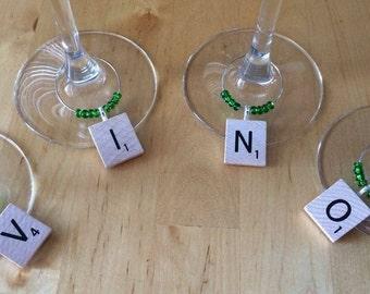 VINO scrabble wine markers