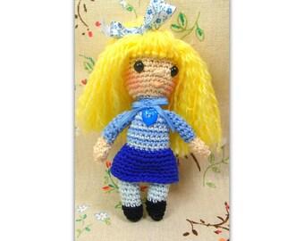 Mini poupée  - poupée pour Blythe -  Toy for Blythe - Doll for Blythe, Licca, Ruruko, échelle 1/6 de Pullip - Navy dress for doll Blythe -