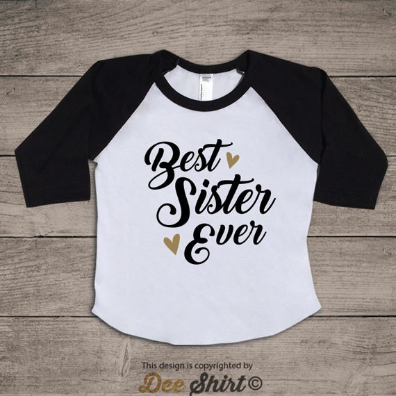 Big sister shirt; best sister ever; birthday girl gift idea kids t-shirt; daughter and mommy tee; newborn baby shower; cute children outfit