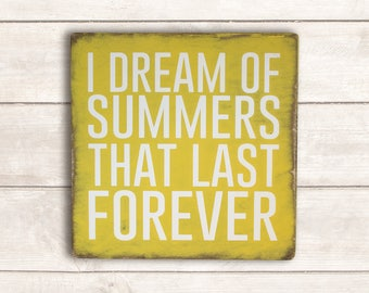 Beach Wood Sign; Beach Sign; Beach Wall Decor; Beach Wall Art; I Dream of Summer Wood Sign; Vintage Beach Sign; Vintage Beach Wood Sign