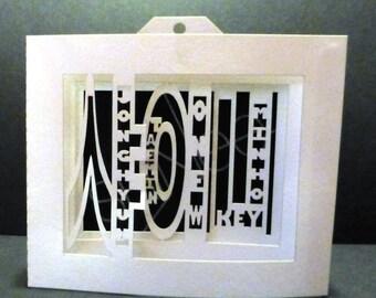 Shinee Shadow Box Card