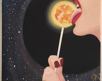 Galaxy Painting - Surrealism - Acrylic Painting