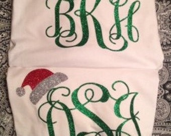 Santa Hat with Monogram for Adults