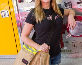 Turnout Gear Zippered Tote Bag