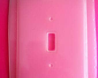 Beveled Single Light Switch Plate Cover Flexible Plastic Resin Mold For Resin