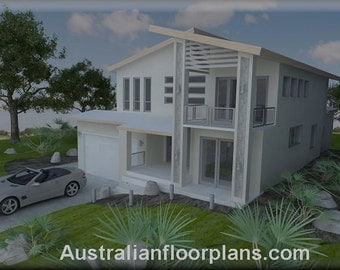 409 m2 / 4 Bed house plan /Narrow 2 Storey design/Narrow Lot plan/two storey house plan/Narrow home|modern 2 storey/narrow 4 bed floor plans